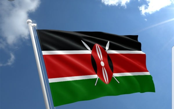 Image of Kenyan flag 3 by 5 ft