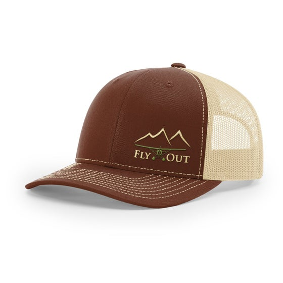 Image of Alaska Fly Out Embroidered Hat Brown/Khaki