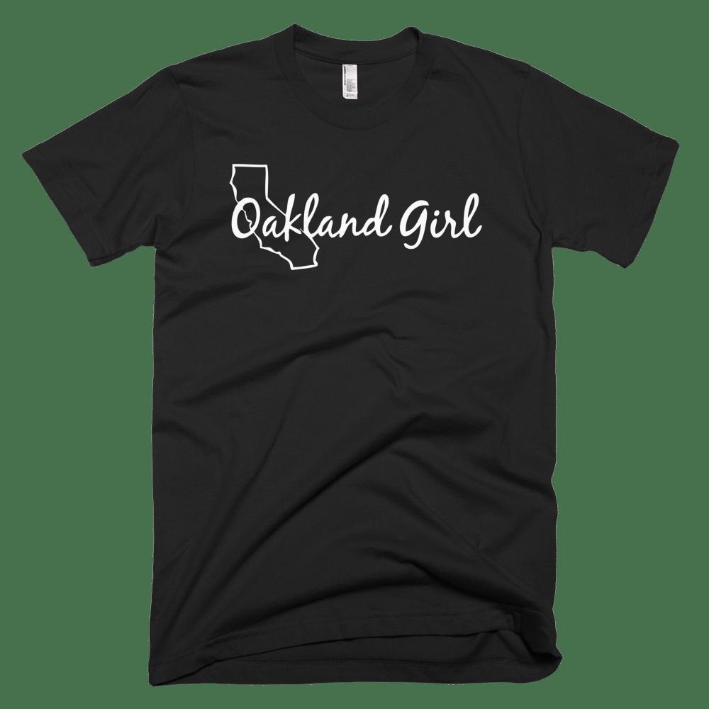 Image of Black & White Oakland Girl Tee