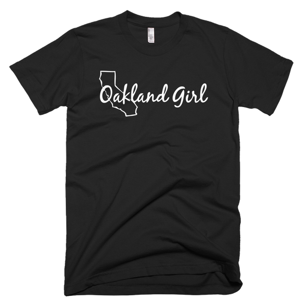 Image of Black & White Oakland Girl Tee
