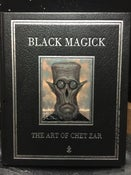 Image of Black Magick Book With Hand Painted Cover- Pre Order