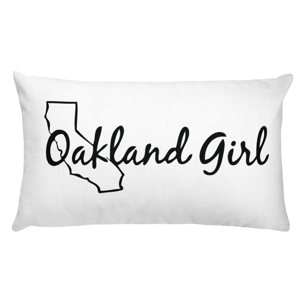 Image of Oakland Girl Throw Pillows (square or rectangular)