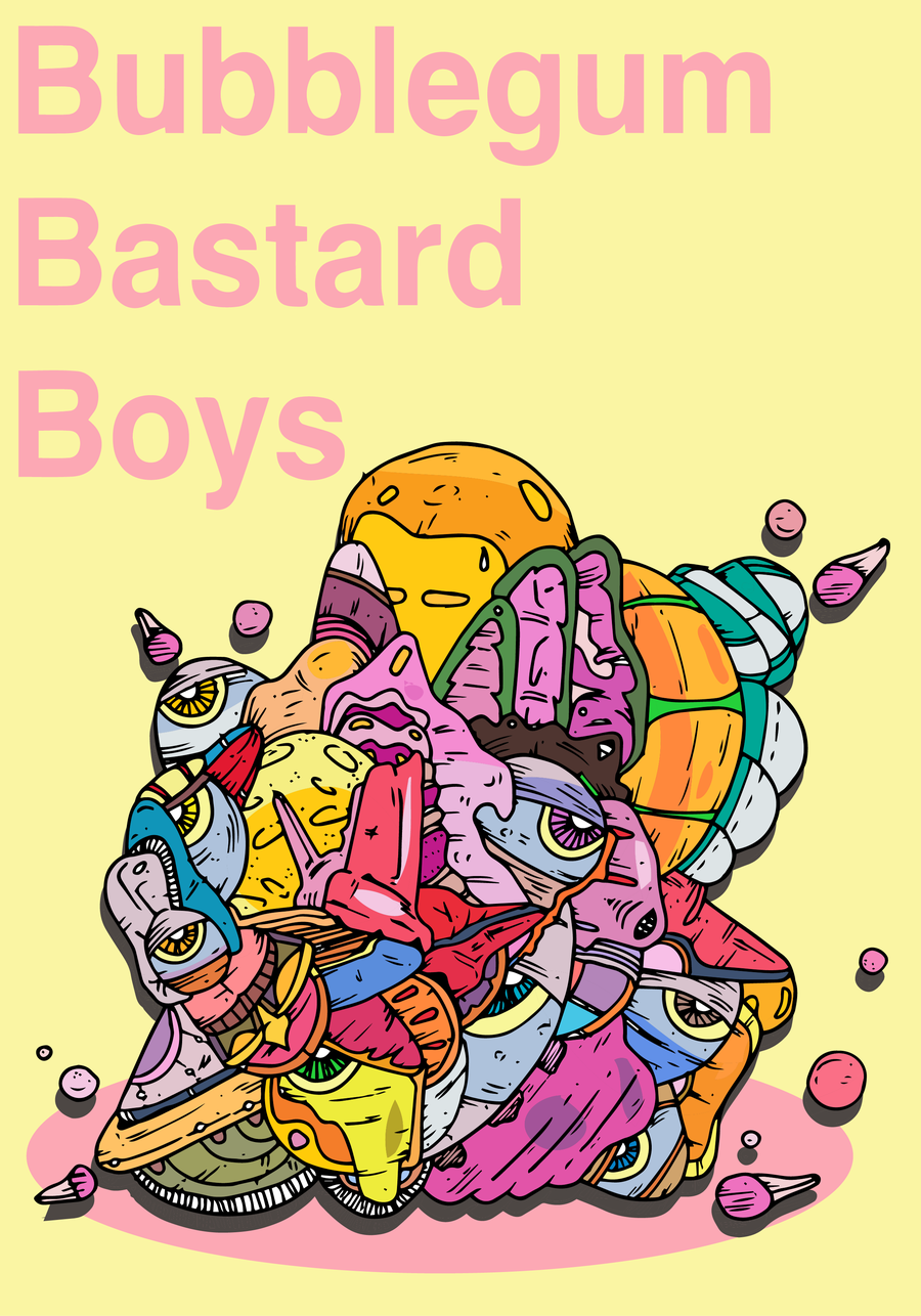 Image of Bubblegum Bastard Boys - Pink