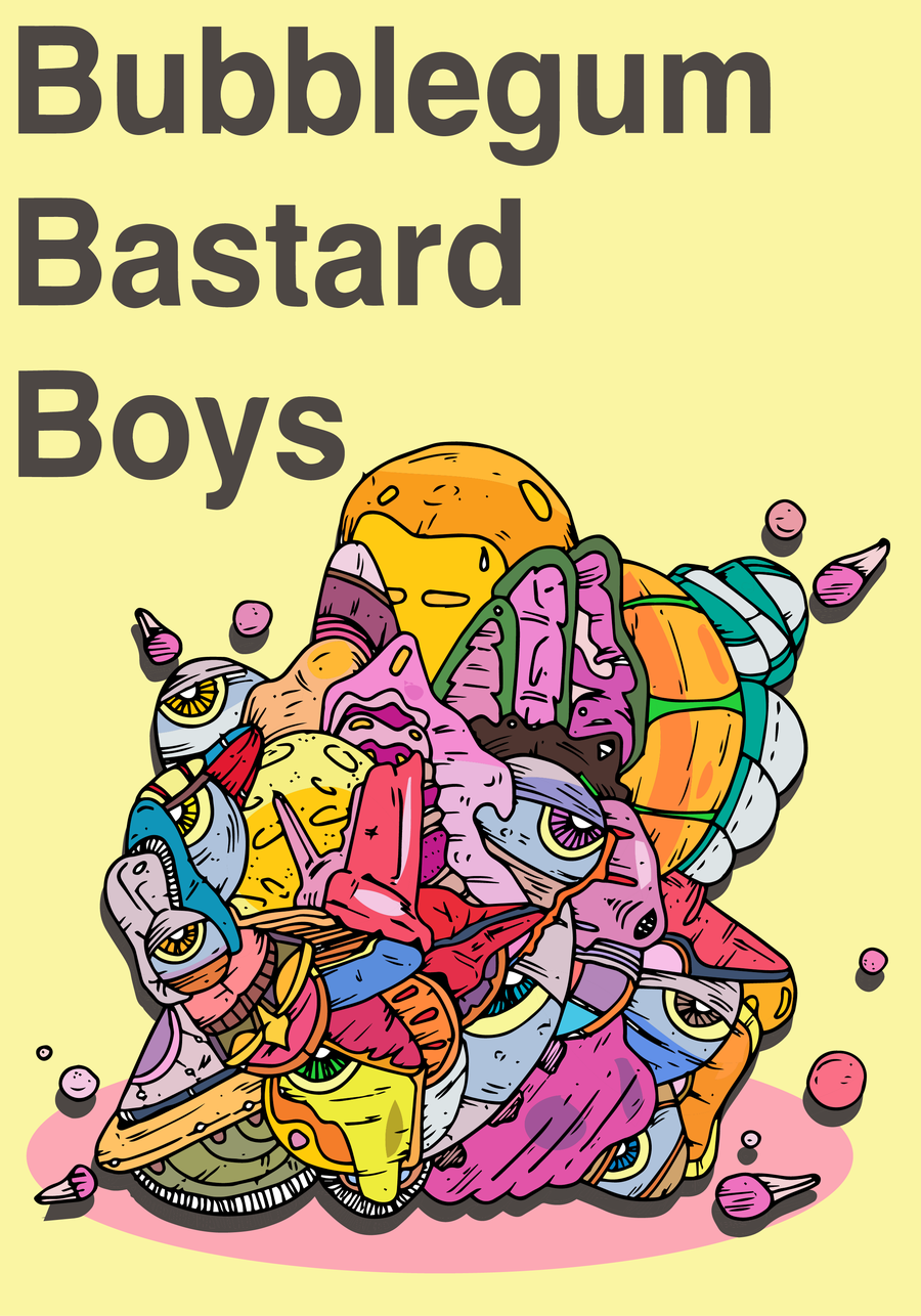 Image of Bubblegum Bastard Boys - Grey