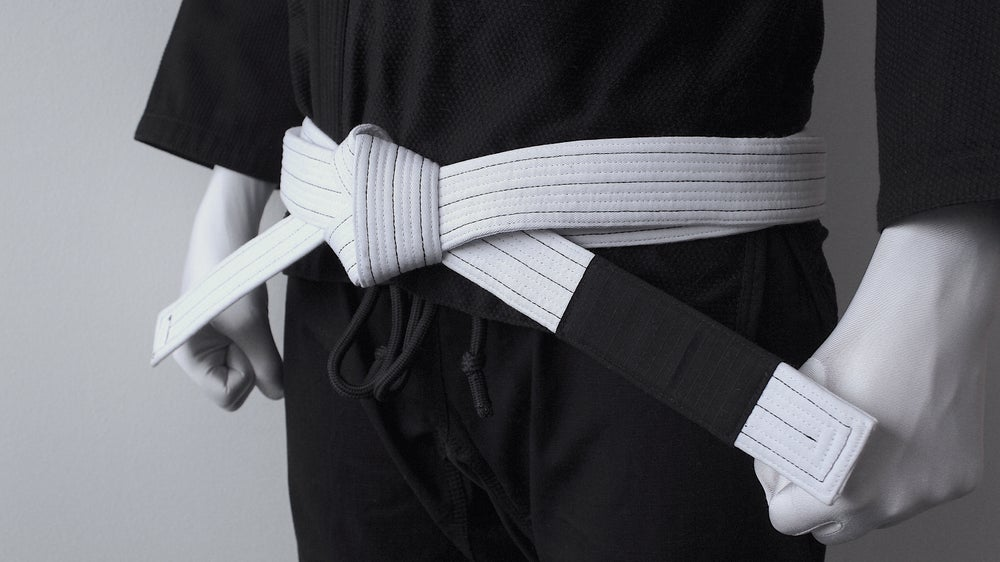 Image of BLACK SAINT 聖暗黒 White Belt