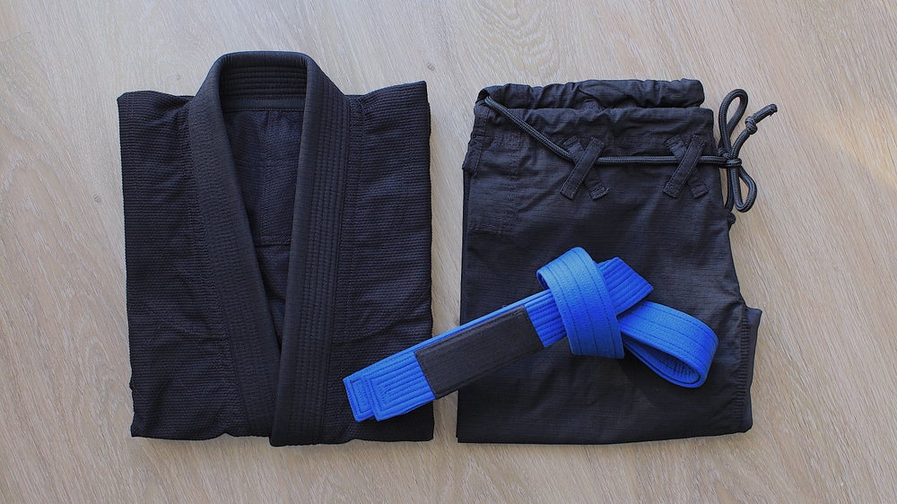 Image of BLACK SAINT 聖暗黒 Blue Belt