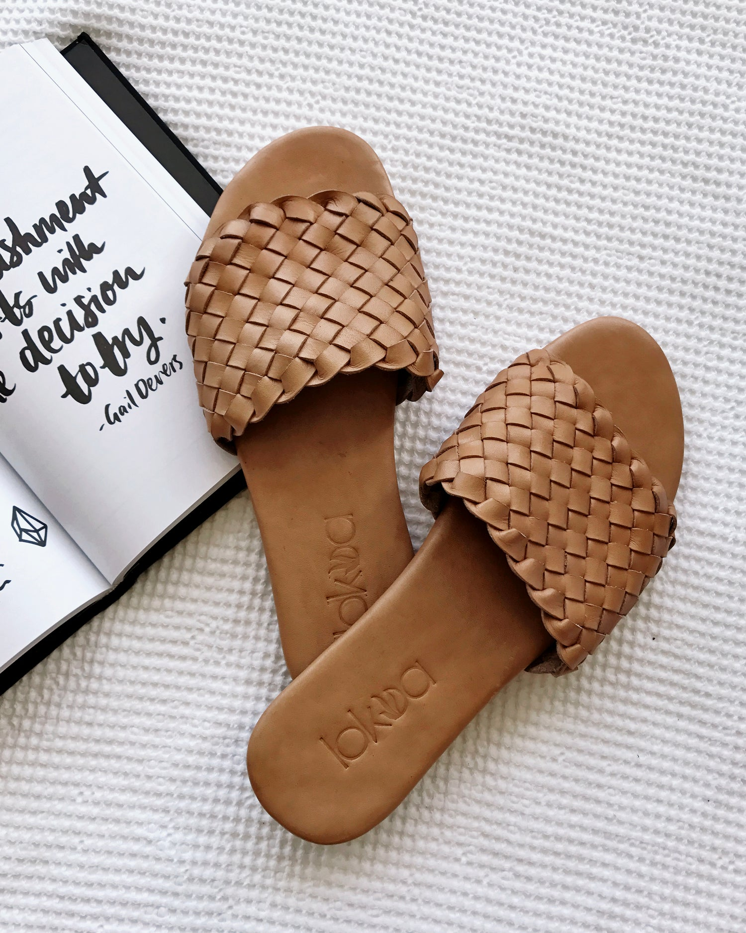 Image of Sonoma Leather Slides - TAN