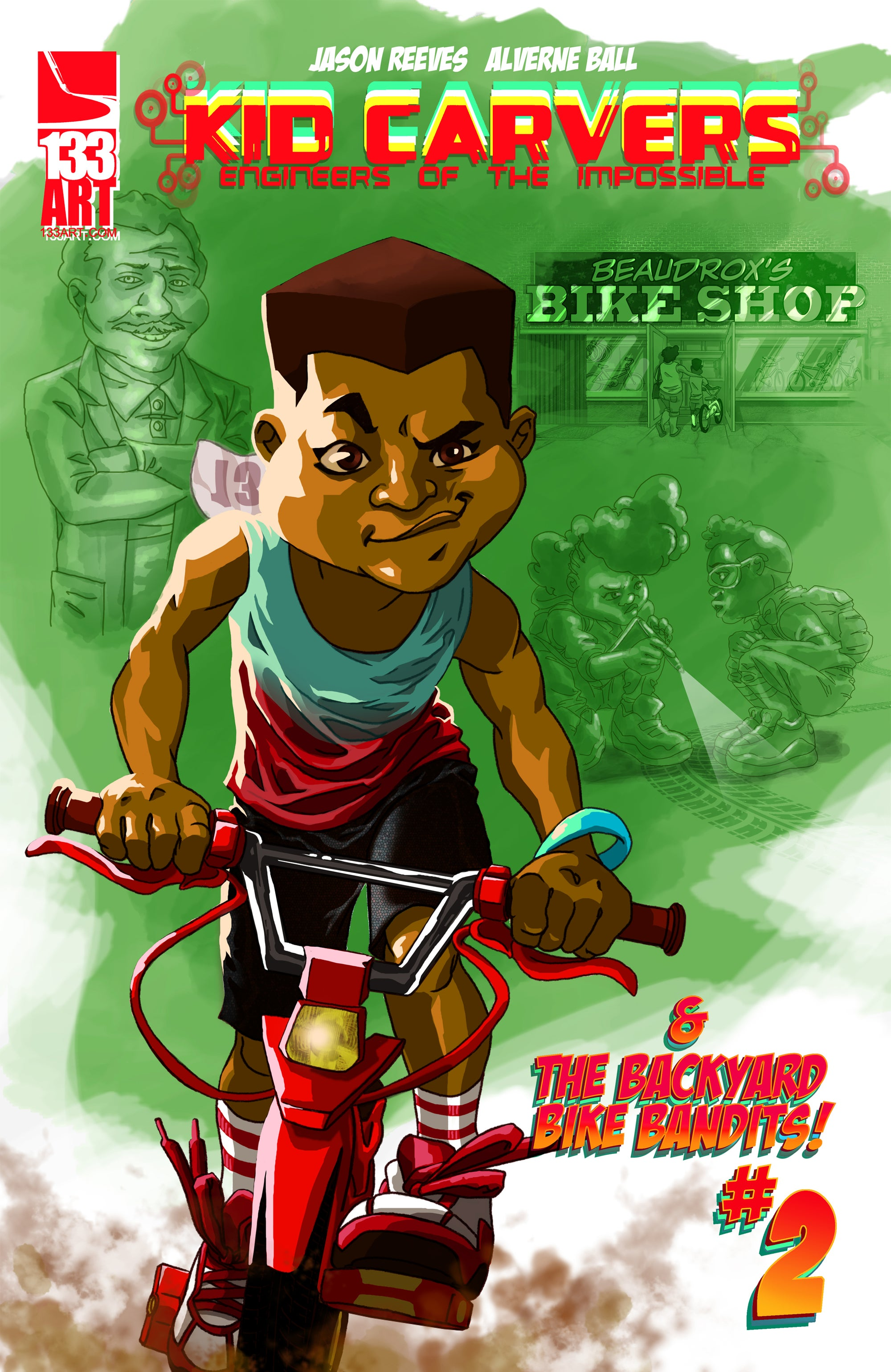 Image of KID CARVERS: and the Backyard Bike Bandits #2 [digital comic]