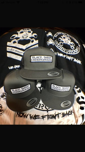 Image of BSU Militia Patch Hat 5 panel mesh snapback hat