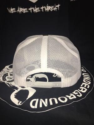 Image of **NEW**BSU Resistance EMB Hat Black/White 5 panel mesh snapback hat