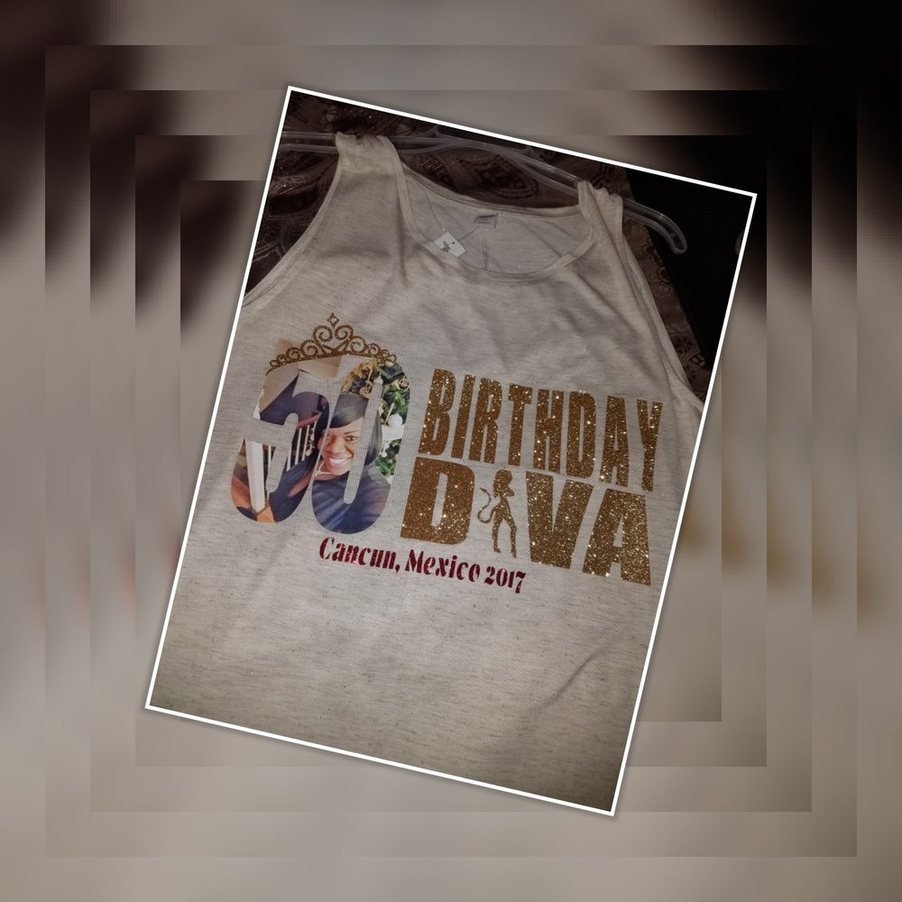 Image Of 50th Birthday Custom T Shirt