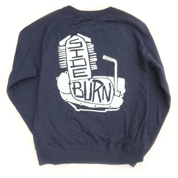 Image of Engine Crewneck Sweat Shirt - Dark Blue