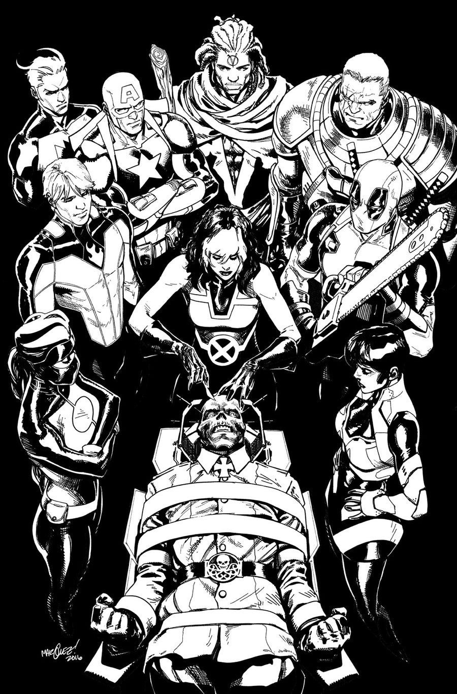 Image of UNCANNY AVENGERS #22 COVER ARTIST'S PROOF