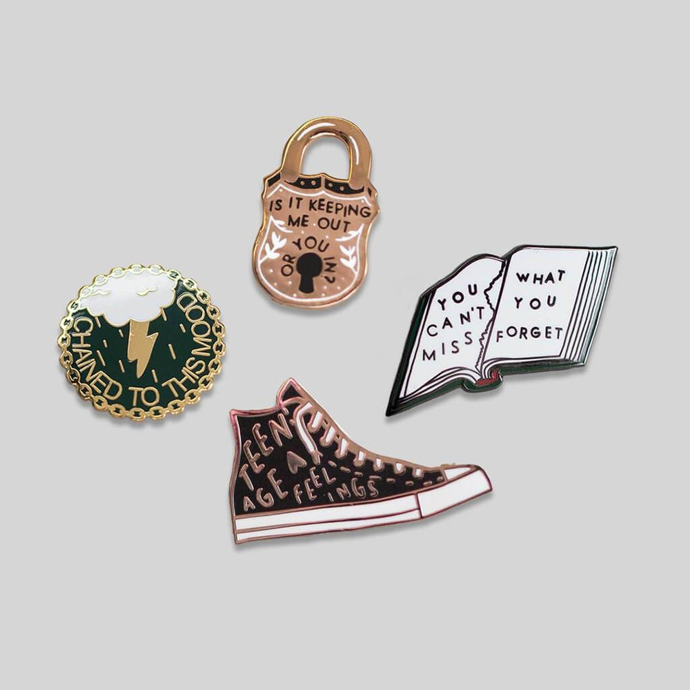 Image of Stay Home Club x AF Enamel Pins - 4-Pin Set (2016)