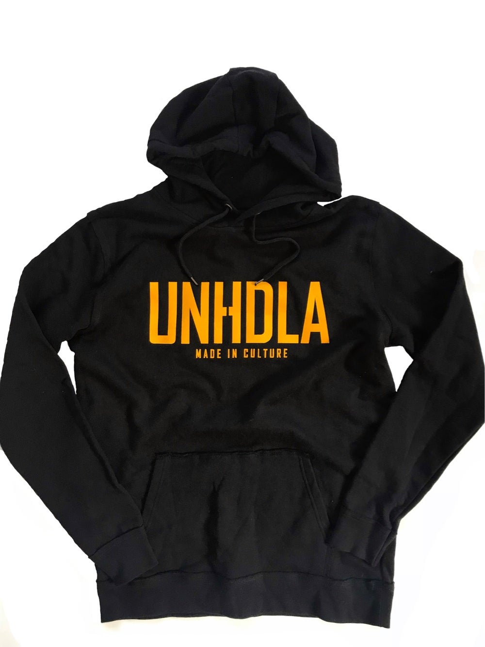 Image of UNHDLA hoodie blk/gold