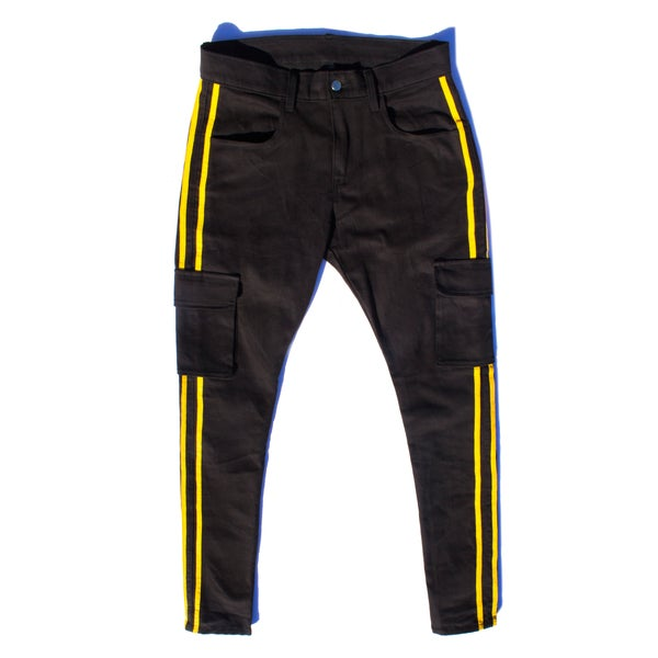 YELLOW STRIPE CARGO PANT - Sean + Kelly