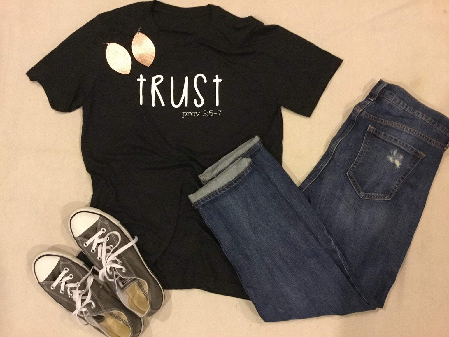 Image of Trust Proverbs 3:5-7 tee