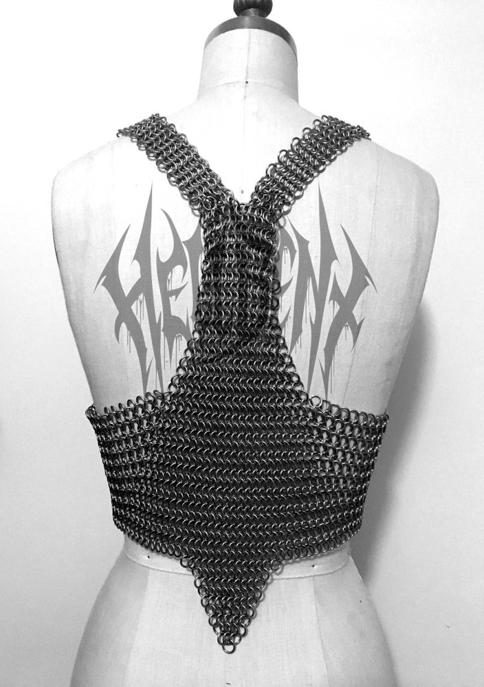 Image of Hellbent MAIDENSTEEL Chainmaille Crop Top
