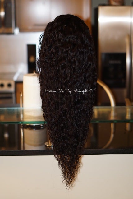 "Image of Cambodian Natural Waves 24"" Custom Lace Closure Wig!"