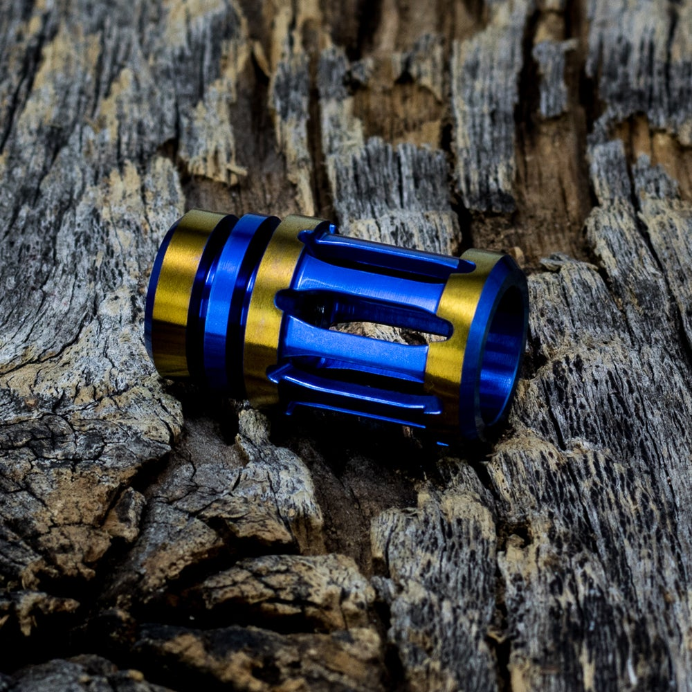 Image of A2 Muzzle Brake Bead - Blue/Bronze #1