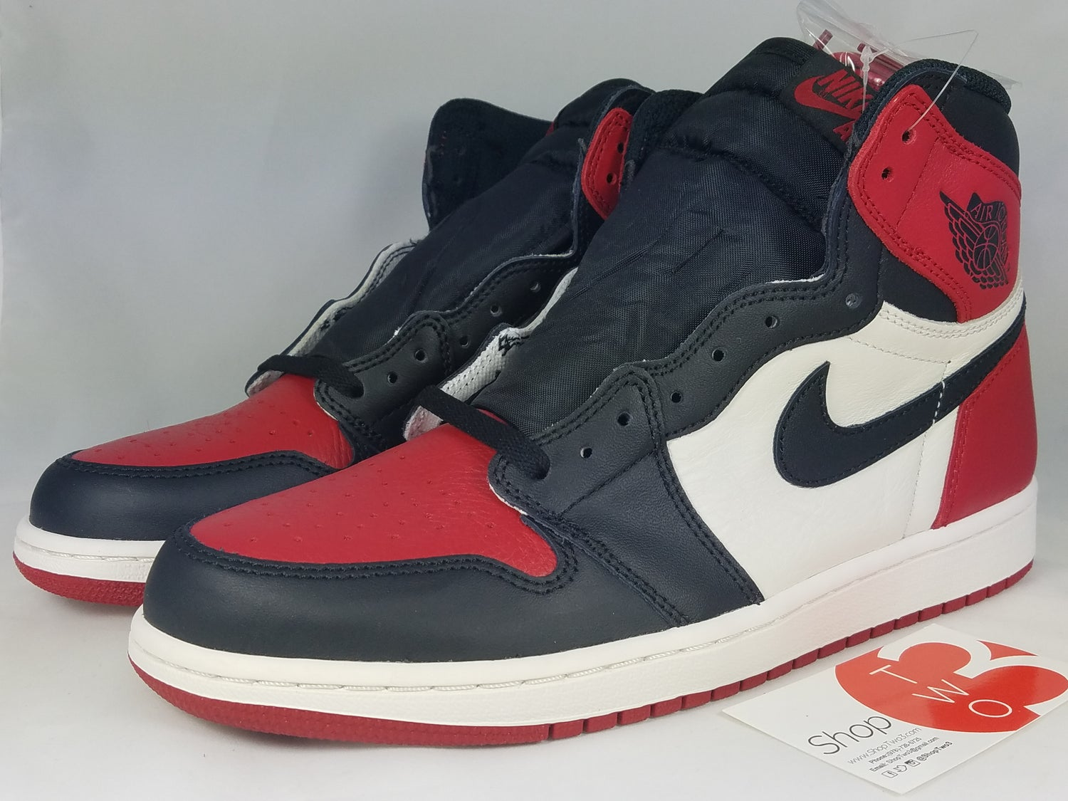 70bf72aafd7c0 Image of Jordan 1 Retro High Bred Toe