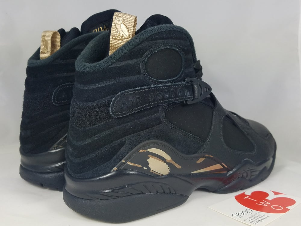 Image of Jordan 8 Retro OVO Black
