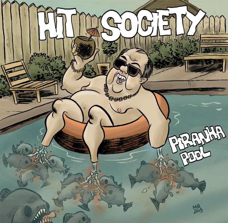 "Image of Hit Society - Piranha Pool EP - 7"" + Download Code"