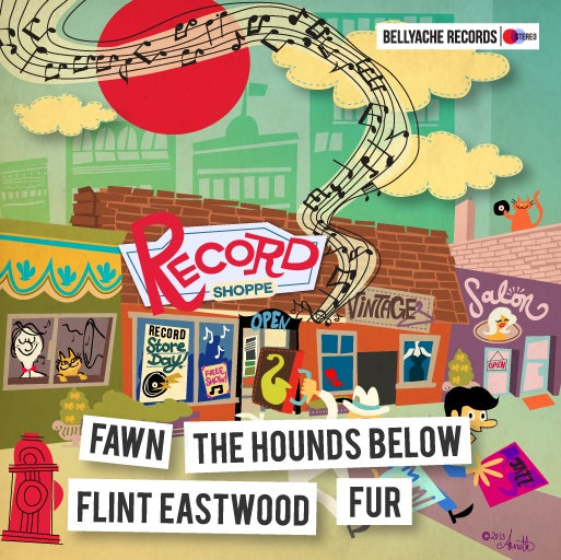 "Image of Flint Eastwood/The Hounds Below/Fur/Fawnn - Record Store Day 2013 EP - 7"" + Download Code"