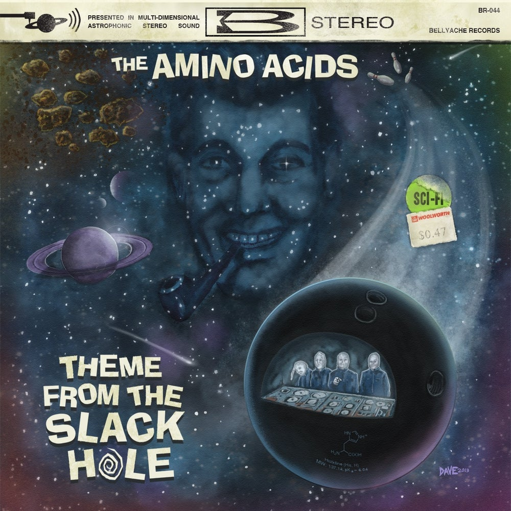 "Image of The Amino Acids - Theme From The Slack Hole EP - 7"" + Download Code"