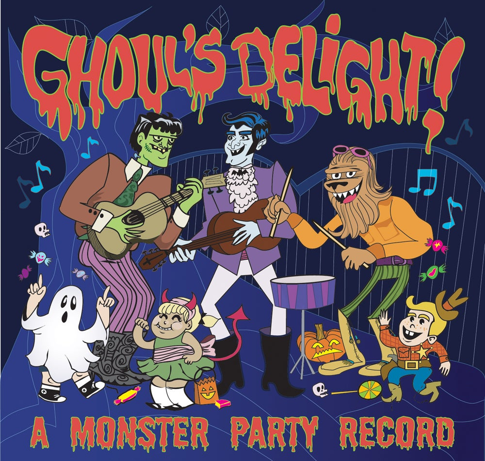 Image of Various Artists - Ghouls Delight! A Monster Party Record - 2xCD