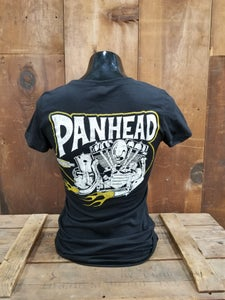 Image of Ladies Panhead Tee Shirt Black