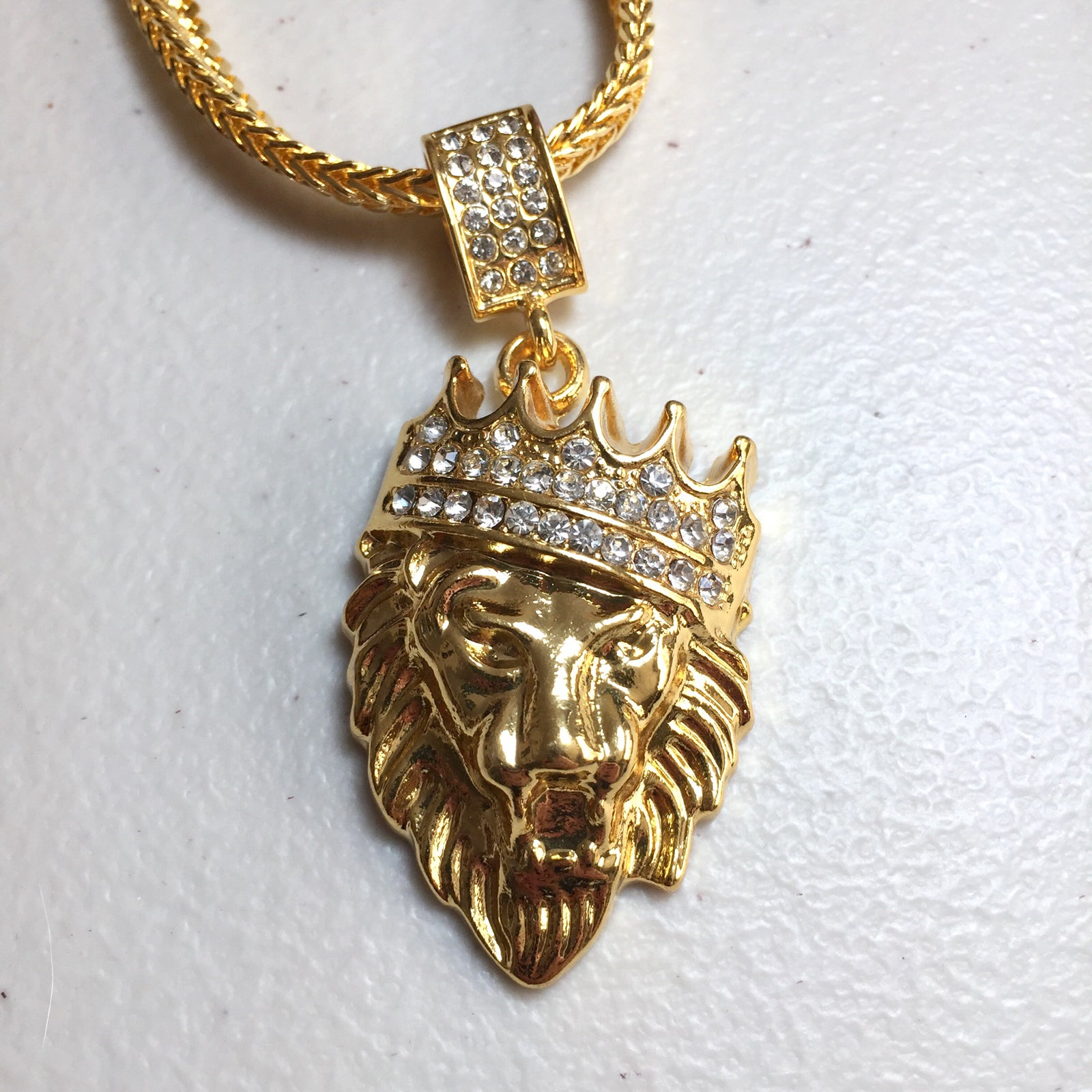 mens necklace lion pin sho copper coin tibetan pendant antique