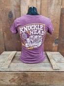 Image of Maroon Ladies Lawrence Vintage Cycle Knucklehead Tee Shirt