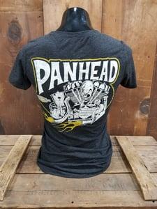 Image of Ladies Panhead Tee Shirt Heather Black