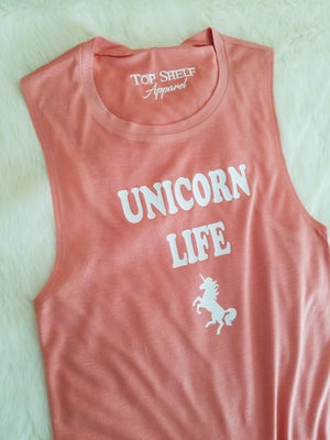 Image of Unicorn Life poly tank Sunset