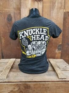 Image of Heather Black Knucklehead Ladies Tee Shirt