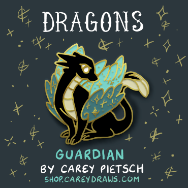 Image of Guardian Dragon hard enamel pin