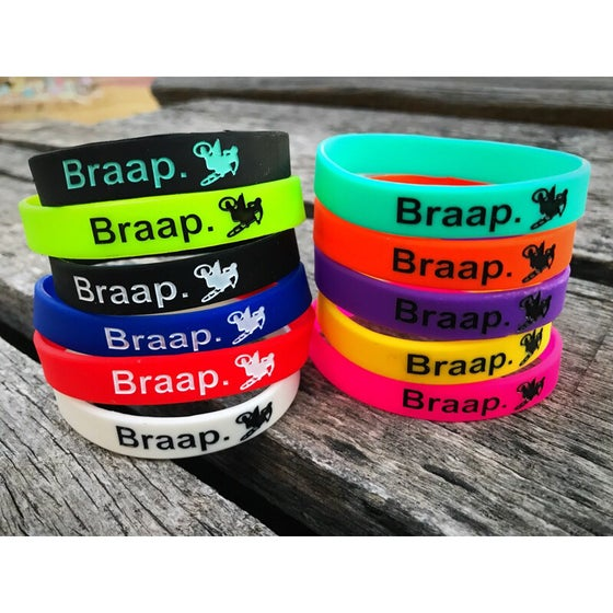 Image of BRAAP Dirt Bike Rubber Band Bracelets