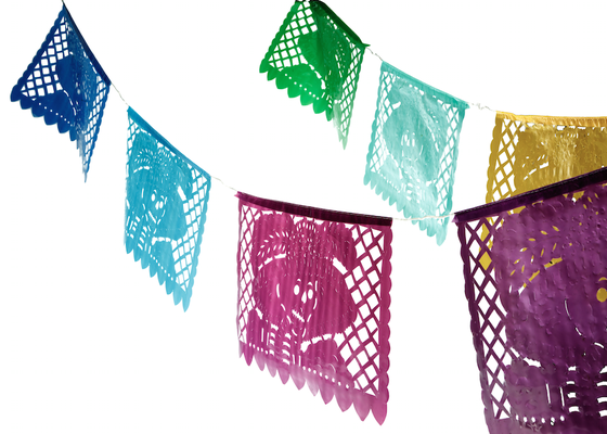Image of Day of the Dead - zombie - skeleton - bunting (large)