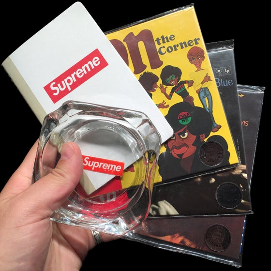 Image of 2008 Glass Ashtray, Miles Davis CDs, & Paper Journal