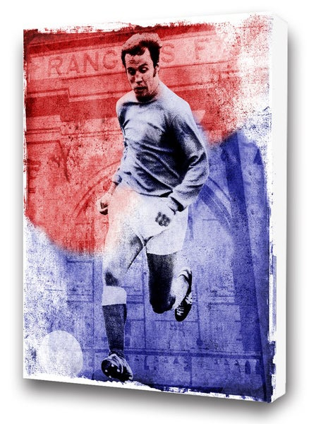 Image of Willie Henderson - Ibrox Watercolour Canvas