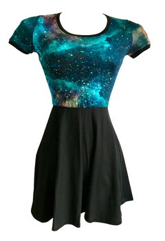 Image of The Galaxy Dress - Blue/Purple