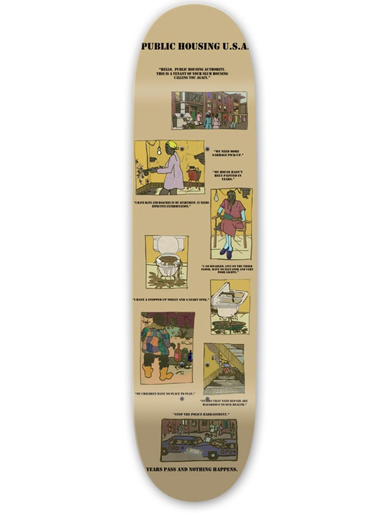 Image of PUBLIC HOUSING USA SKATE DECK *BLACK HISTORY MONTH*