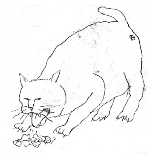 Image of Pussy Lover #4 / 10x10cm(4x4inch) / 2018