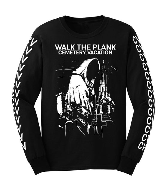 "Image of Cemetery Vacation ""Reaper"" Long Sleeve T-Shirt (Black)"