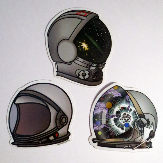 Image of Space Helmet Stickers.