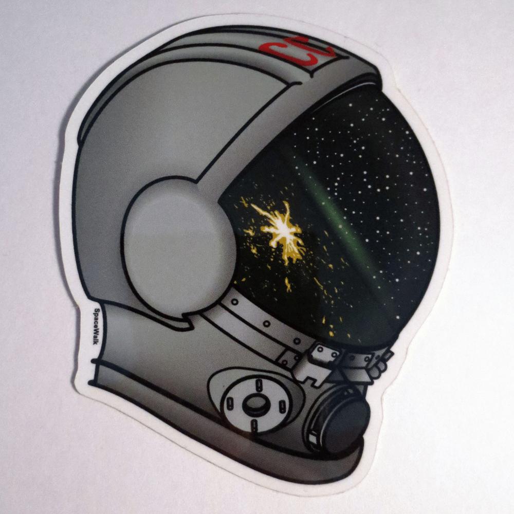 Image of Space Helmet Stickers.