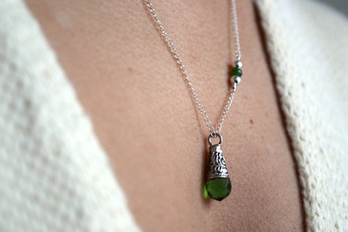 Image of The Sterling Green necklace