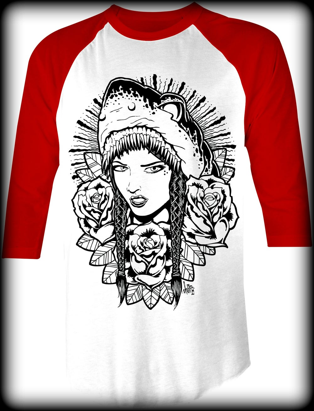Image of Shark Lady Baseball Tee