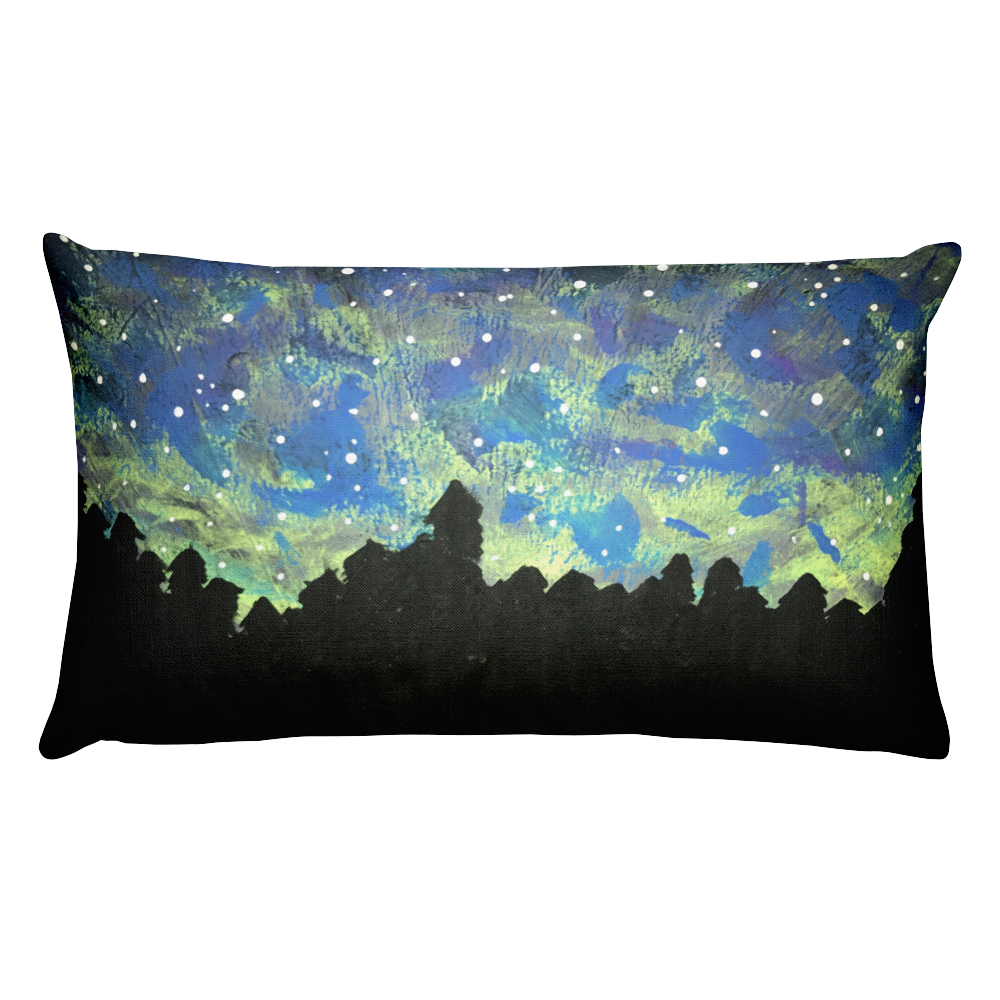 Image of NORTHERN LIGHTS PILLOW